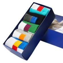 -[Jingdong Supermarket] Fitness Men's Socks [5 Pairs] Contrast Color Block Breathable Casual Men's Socks 1j828 Mixed Color One Size on JD