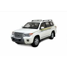 -1:18 scale Toyota Land Cruiser 2012 LC200 diecast model car white on JD