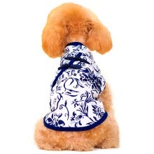 8750208-[Jingdong supermarket] Huayuan pet (hoopet) blue and white porcelain pet cheongsam cat and dog clothes spring and summer dog dog feet S on JD