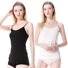 tanks-camis-MODAIER women's vest, 2 packs, white and black, free size on JD