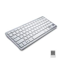 -2.4G ultra thin wireless keyboard notebook computer keyboard scissors foot chocolate wireless mini keyboard on JD