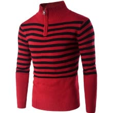 875061884-Winter Men Sweater Striped Casual Pullover Sweaters on JD