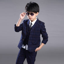 -2016 Fall New Style Boys Plaid Suit Three-piece Suit Clothing Sets Pant Sets on JD