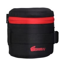 -Rui Ma (EIRMAI) L2020 SLR camera lens bag barrel thick anti-collision shock Canon Nikon lens bag red edge on JD