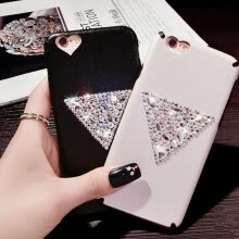 mobile-decorations-New Luxury Rhinestone PU leather Phone Case For iphone 6 6s Diamond Sparkling Back Cover For iphone 6 plus With Lanyard on JD