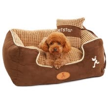 -Huayu pet (hoopet) kennel autumn and winter can be removable Teddy gold wool warm pet cat nest Samoyed small dog dog pet supplies Phnom Penh corn grain S on JD