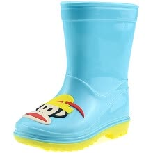 875061444-【Jingdong supermarket】 PaulFrank mouth monkey rain boots in the tube waterproof plastic shoes sets of shoes children men and women baby fashion boots PF1011 blue 32 yards on JD