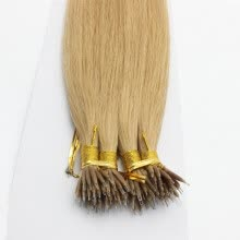 -100 beads 16'~30' Undetectable 100% Brazilian Virgin Human Hair #27 Honey Blonde Micro Nano Ring Hair Extensions on JD