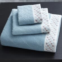 -[Jingdong Supermarket] Grace (Grace) towel home textile cotton jacquard thousands of birds grid thickening absorbent hair bath towel towel three sets of towels * 1 towel * 1 scarf * 1 red on JD