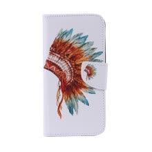 -Indian Hat Design PU Leather Flip Cover Wallet Card Holder Case for SAMSUNG J710 J72016 on JD