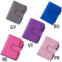 functional-bags-MyMei  Women Mini Grind Magic Bifold Leather Fashion Vintage Wallet Card Holder Purse on JD