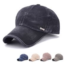skullies-beanies-MyMei Fashion Sports Plain Washed Cotton Baseball Cap Sunbonnet Hat Adjustable 2017 on JD