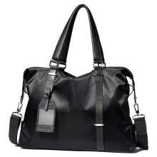 BOSTANTEN (BOSTANTEN) men s handbag casual shoulder bag horizontal  cross-section package fashion men s bag nylon cloth business briefcase  B154913 pure black e4e9ad621c354