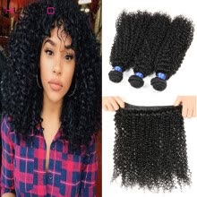 -malaysian virgin hair kinky curly human hair weaves 4bundles/lot good quality malaysain afro curly virgin hair extensions on JD