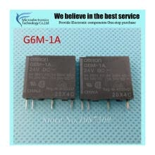 -10pcs free shipping G6M-1A 24V G6M-1A-24VDC G6M-1A 24VDC Relays Power PCB Relay SP-NO Sil 24VDC new original on JD