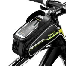 -Sireck MTB велосипед мешок 6' Frame Touchscreen Велосипед Saddle Bag Велоспорт Передняя труба велосипеды Сумка Чехол для телефона on JD