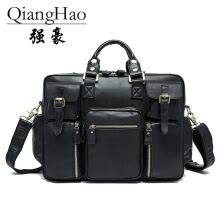 briefcases-QiangHao  men's briefcase, business men's bags, leather men's handbags, shoulder bags, laptop bags on JD