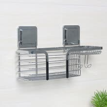 -Le stickers bathroom bathroom racks toilet free punching stainless steel storage rack hotel bathroom wall-mounted powerful seamless multifunctional kitchen racks toilet storage shelves on JD