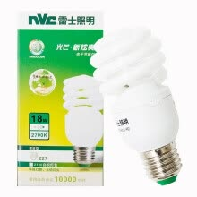 -[Jingdong Supermarket] NVC lighting (NVC) energy-saving lamps E27 large mouth spiral 18W2700K incandescent light (yellow) on JD