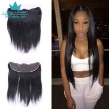 -Peruvian Virgin Human Hair 3 Bundles With (13 x 4) Lace Frontal Straight Wave Weft 100% Real Human Hair Extensions Natural Color on JD