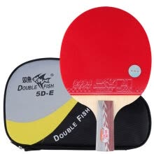 -Pisces table tennis racket shot straight shot 5 star five-star troop racket 5D-E short handle on JD
