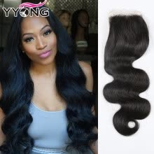 closures-frontals-YYONG Hair Products 3 Parte Brazillian Body Wave Closures Cierre brasileño Lace Top Closure Barato Lace closure on JD
