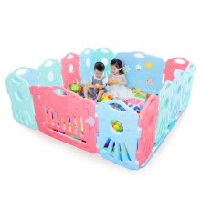 -Aubei (AUBY) cosmic sky game fence 12 + 2 baby safety toddler fence 12 small fence +1 gate fence +1 game bar 464323DS on JD