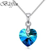 875062454-Baffin Heart Mini Pendant Necklace Silver Color Chain Necklaces For Women Girls Jewelry Crystals From SWAROVSKI on JD