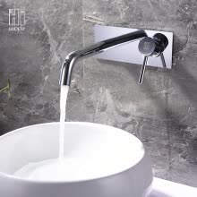 -HIDEEP wall-mounted Bathroom faucet brass basin  faucet on JD