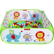 -Fisher Fisher-Price Baby Pool Set (Infant Children Ocean Ball Game Fence contains 100 toy balls) Green F0317-2 on JD