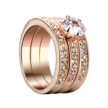 875062457-Yoursfs® 18K Gold Plated 0.8CT Triple Simulated Diamond Wedding Ring Use Austrian Crystal Fashion Jewelry on JD