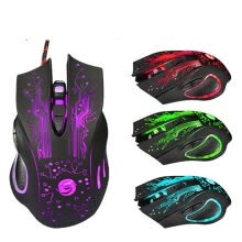 875061464-New Seven colors glow 3200 DPI 6 Buttons LED USB Optical Wired Gaming Mouse For Pro Gamer on JD