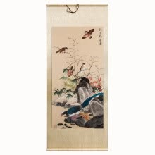 "87502-Xun yi ji Fine embroidery paintings ""Qiu xi zhe que map"" pure hand made home decoration gift on JD"