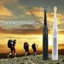 875071896-Sonic Electric Toothbrush 3 brush heads for Adult 5 Cleaning Modes USB Charging Power Tooth Brush Waterproof Portable Travel on JD