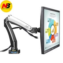 875061464-NB F100 Computer Bracket Display Bracket Desktop Free Punch Bracket Retractable Adjustable Pendant Rotate Up and Down Multipurpose Scaffold 17-27 in. on JD