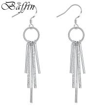 -Baffin Fashion Silver Plated Tassel Drop Earrings With Cubic Zirconia CZ Diamond For Women Party Wedding Jewelry on JD