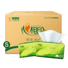 -Facial Printed Paper Tissue Teeth Tea Series Soft Extract 3 Layer 130 Pump * 24 Pack (Small Size) Featured (two packages shipped at random) on JD