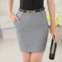 skirts-Novelty Grey Slim Fashion Spring Summer Formal OL Styles Professional Business Skirts Ladies Mini Skirt Slim Hips Casual Shorts on JD