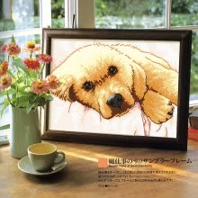 87502-embroider DIY DMC Cross stitch,Sets For Embroidery kits  Calm puppy  factory direct sale on JD