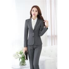 -Novelty Gray Long Sleeve Professional Fashion Slim Jackets & Blazer Coat Formal Autumn Winter Ladies Blazers Outwear on JD