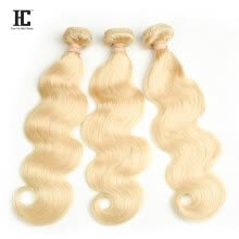 blonde-hair-pieces-HC Hair Brazilian Blonde Body wave 100% Human Hair Thick 3 Bundles Weaving #613 Remy Hair Free Shipping on JD