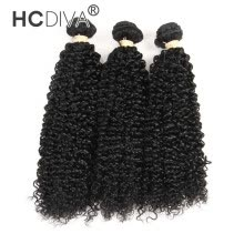 -HCDIVA Good Quality Cheap Price Brazilian Kinky Curly 3 Pieces 100% Remy Human Hair Hair Weave Bundles Full Health End on JD