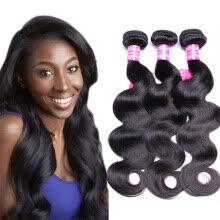 -Bling Hair Brazilian Virgin Hair Body Wave 3 Bundles 7A Grade 100% Unprocessed Human Hair Weave on JD