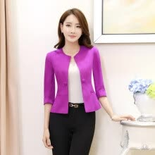 -Elegant Purple Slim Fashion Formal OL Styles Blazer Coat Jackets Ladies Office Blazers Female Tops Outwear Uniforms Plus Size on JD