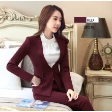 suiting-blazers-Novelty Wine Formal Professional Work Suits With Jackets And Pants 2016 Autumn Winter Pantsuits For Ladies Office Pants Suits on JD