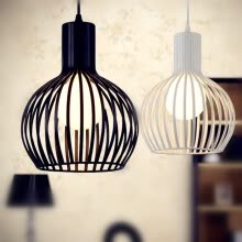 -BOKT Minimalist Vintage 1-light Ceiling Chandelier Lighting Metal Birdcage Lampshape Island Home Decor shop hanging on JD