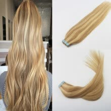 -Professional Sales Teams Hair Extensions 14-24' 2Pcs/Lot Piano Color #16 Fading to #22 Skin Weft Remy Human Hair 50g 20Pcs Per Pa on JD