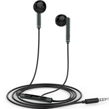 875072520-Huawei (HUAWEI) original three-button wire with wheat half-ear headphones AM116 black on JD
