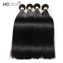 -HCDIVA Hair Peruvian Virgin Hair Straight 4 pieces / lot 100% Real Human Hair Waves Bundles Grade 7A Full Health End on JD