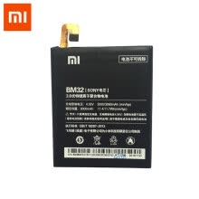 -Original Xiaomi Mi 4 Cellphone battery 3080mAh BM32 High Capacity lithium battery pack protection PCB Lithium Polymer on JD